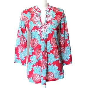 Lilly Pulitzer Swim Cover Up Tunic Beaded XS
